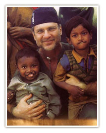 Dr. Hobar with LEAP Children